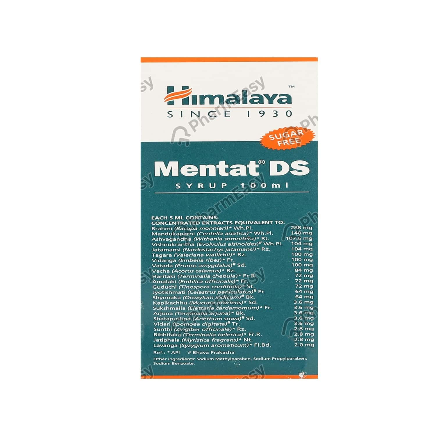 Himalaya Mentat Ds Syrup Sugar Free - 100ml