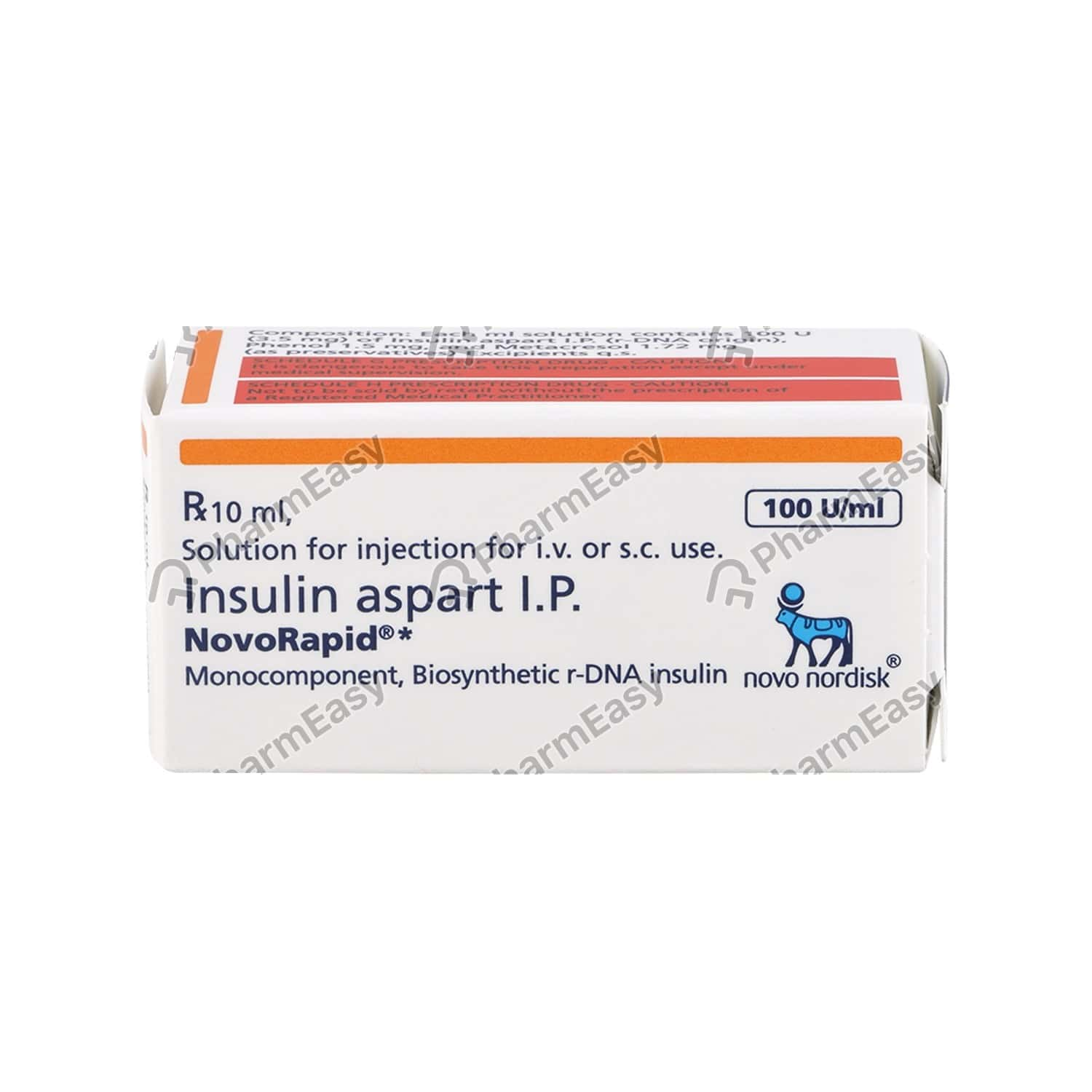Novorapid 100iu Vial Of 10ml Solution For Injection