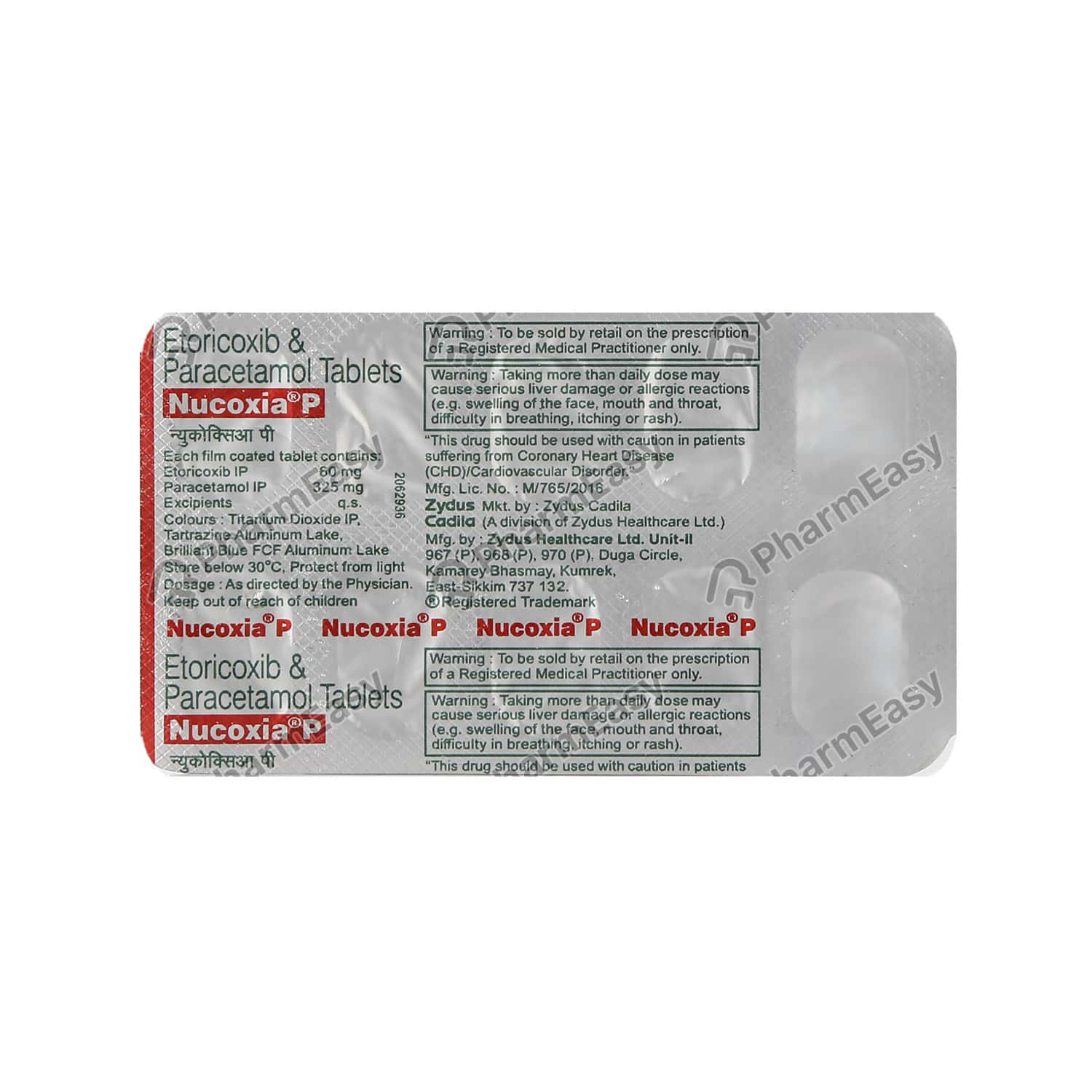 Nucoxia P Strip Of 10 Tablets