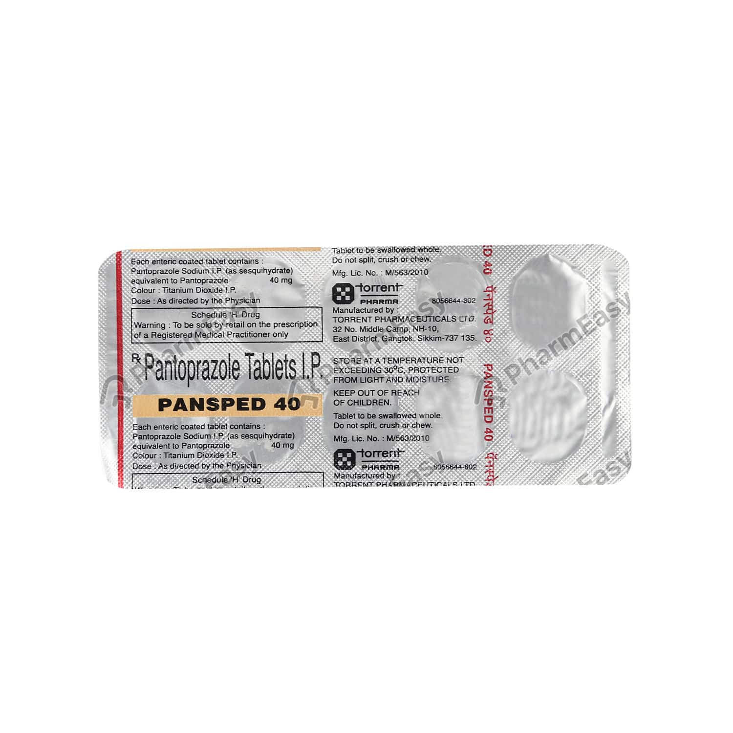 Pansped 40mg Tablet