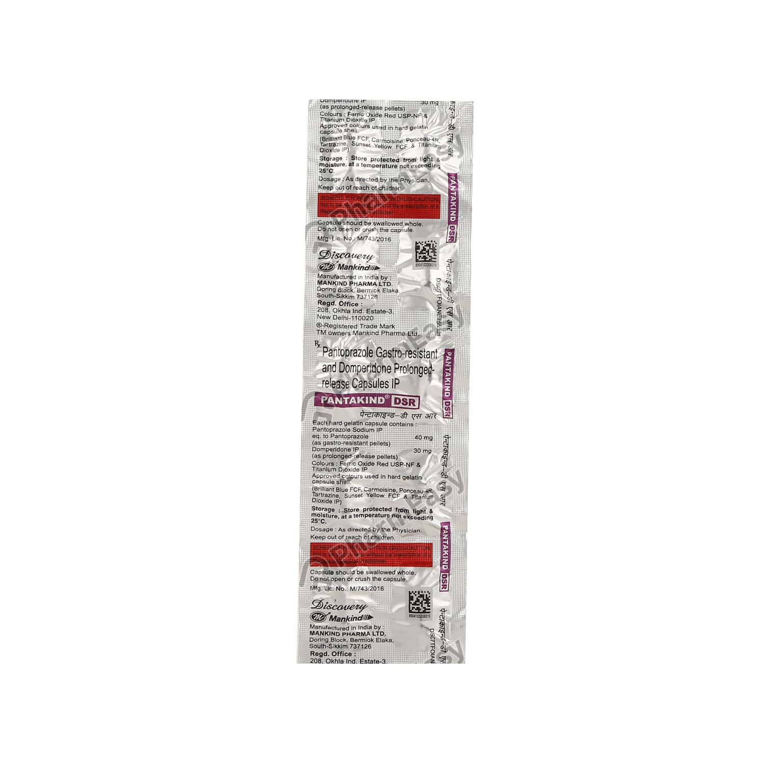 Pantakind Dsr 40mg Strip Of 10 Capsules