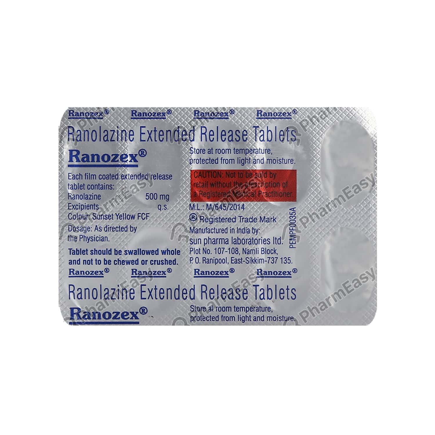 Ranozex 500mg Strip Of 10 Tablets