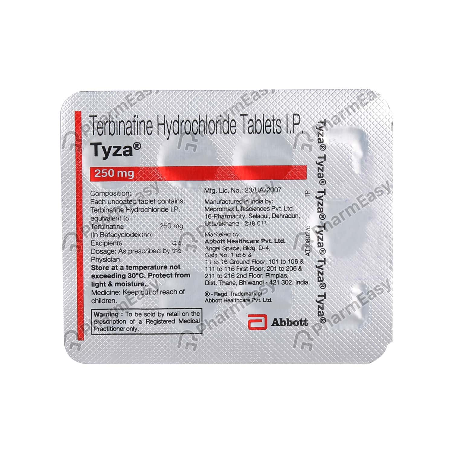 Tyza 250mg Strip Of 7 Tablets