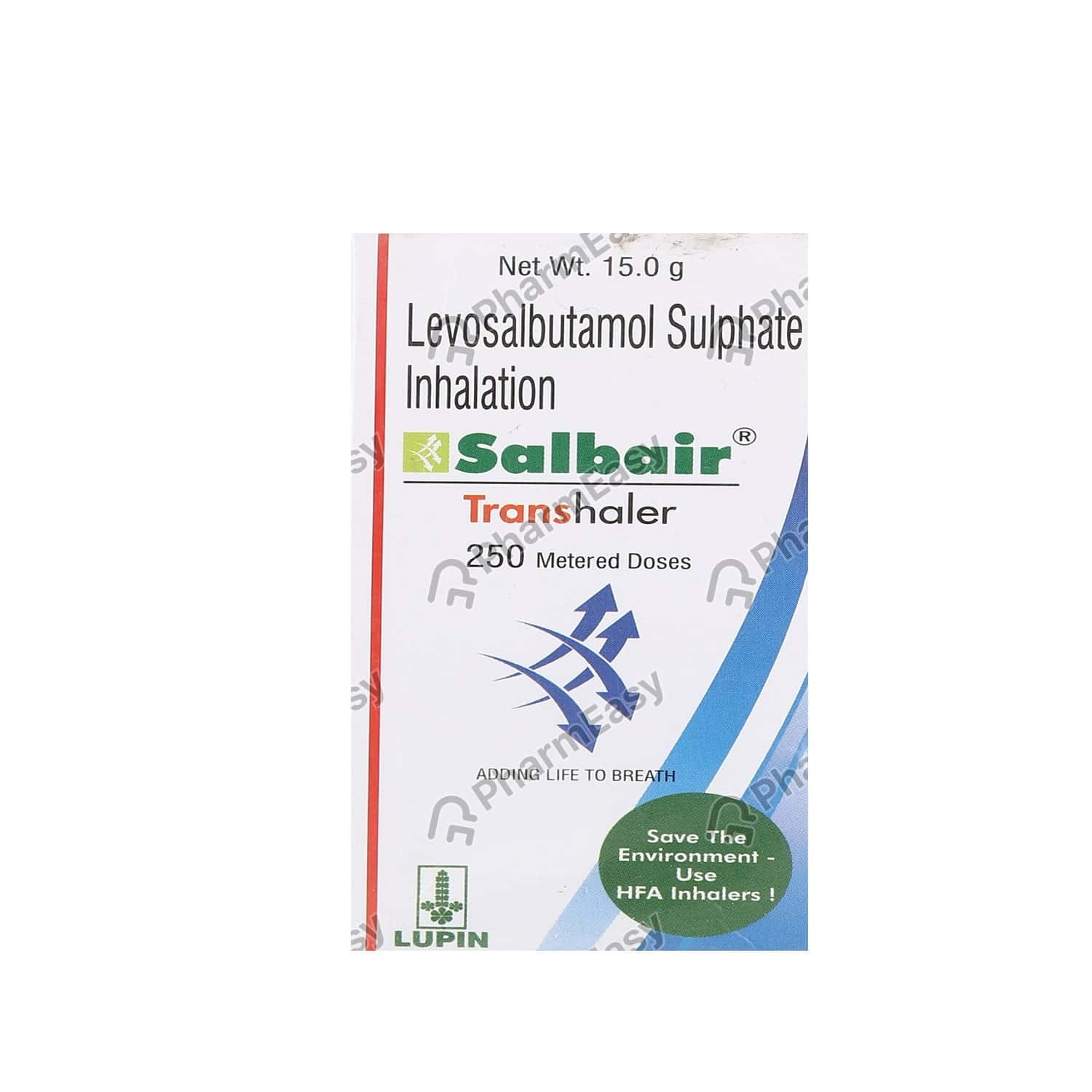 Salbair 50mcg Bottle Of 250md Transhaler