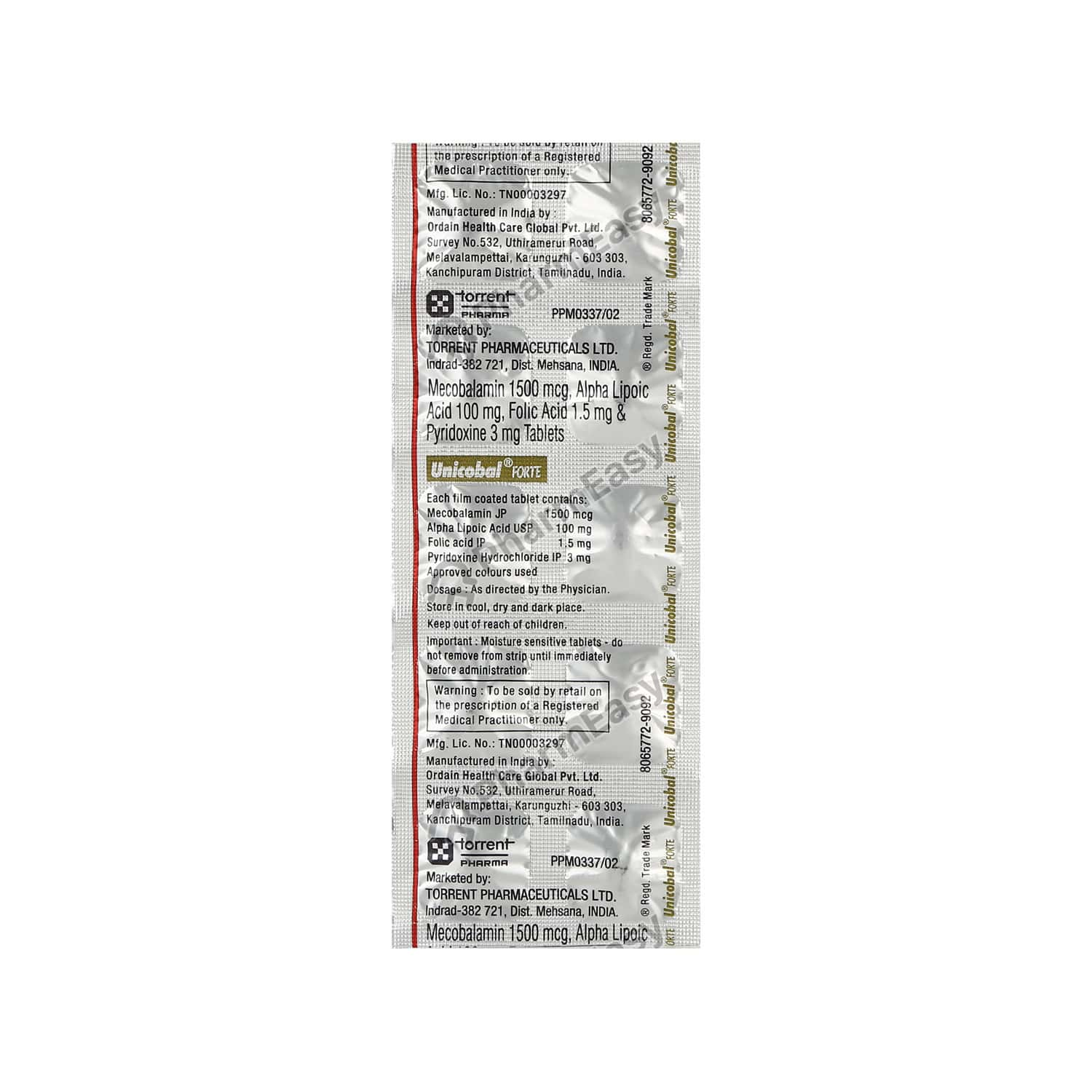 Unicobal Forte Strip Of 10 Tablets