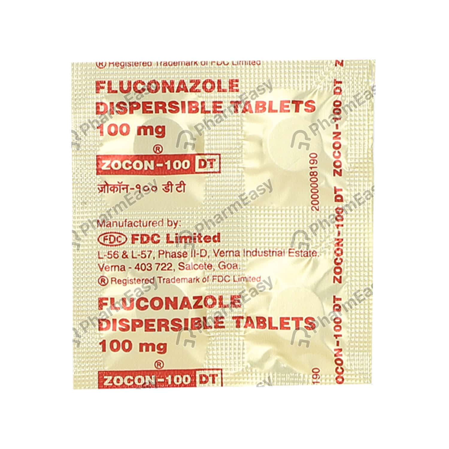 Zocon Dt 100mg Tablet