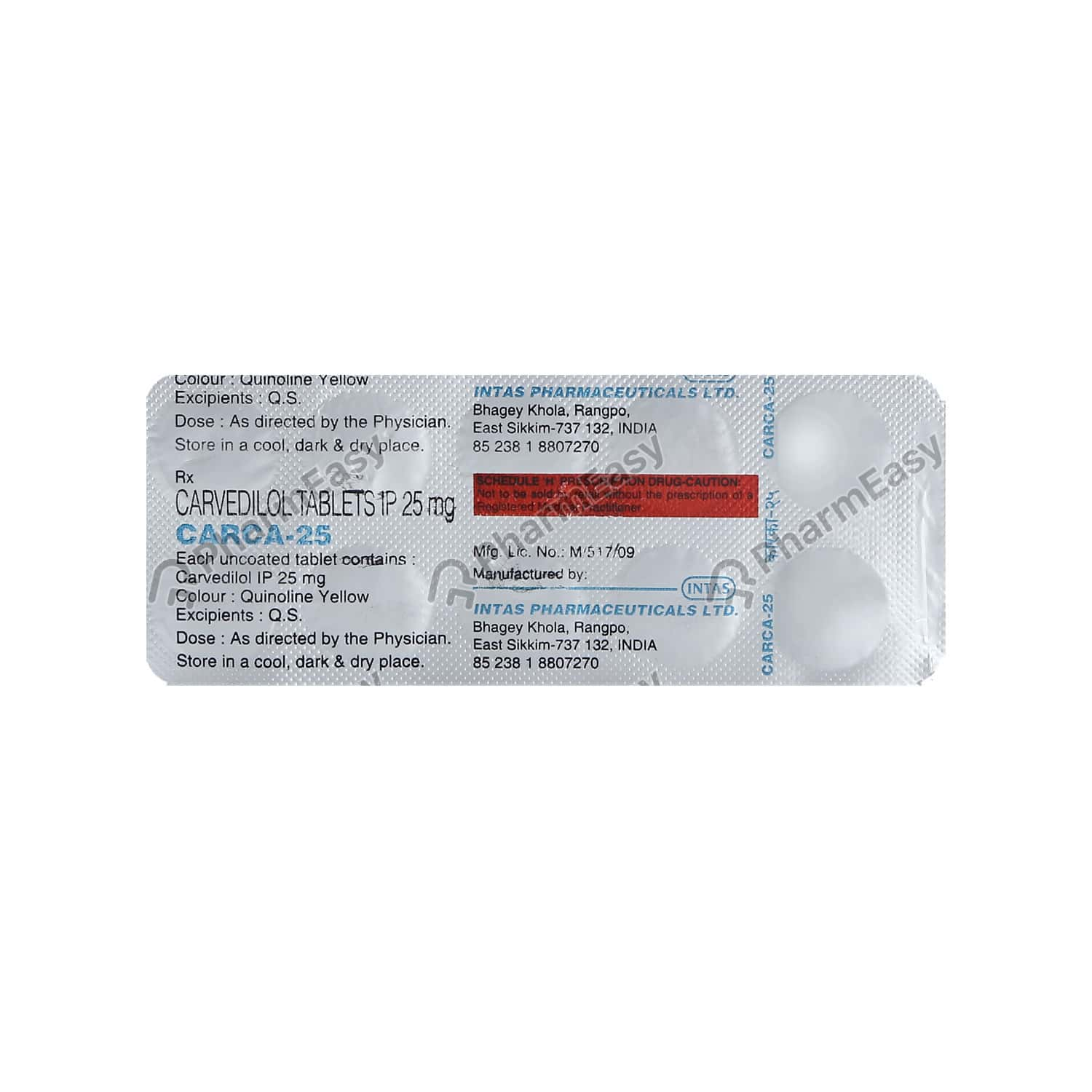 Carca 25mg Tablet