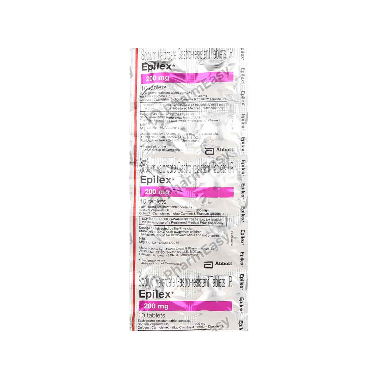 Epilex 200mg Tablet