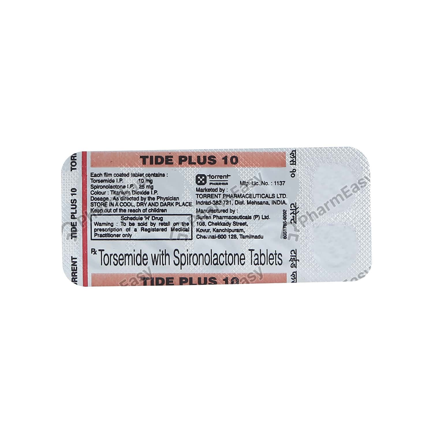 Tide Plus 10mg Strip Of 10 Tablets