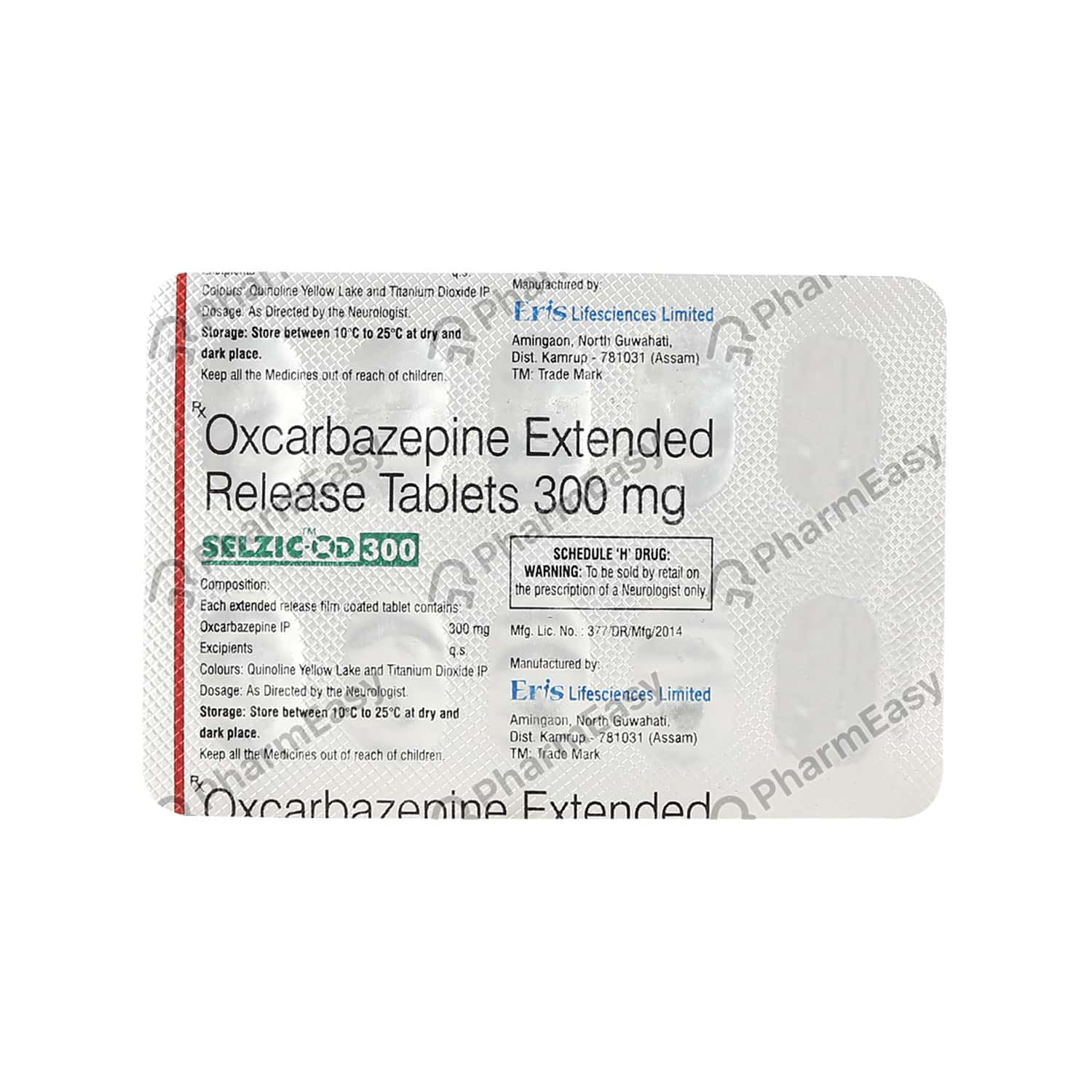 Selzic Od 300mg Strip Of 10 Tablets