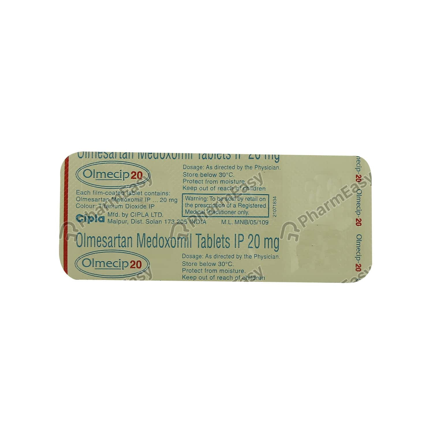 Olmecip 20mg Tablet