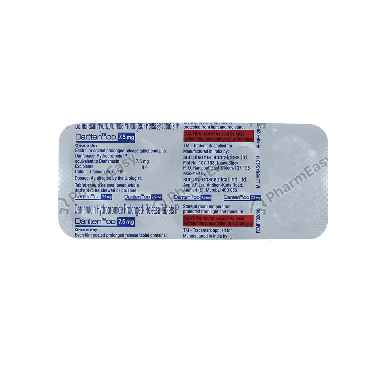 Dariten Od 7.5mg Tablet