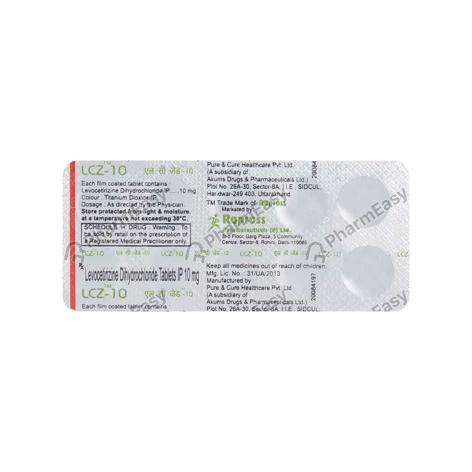 Lcz 10mg Tablet
