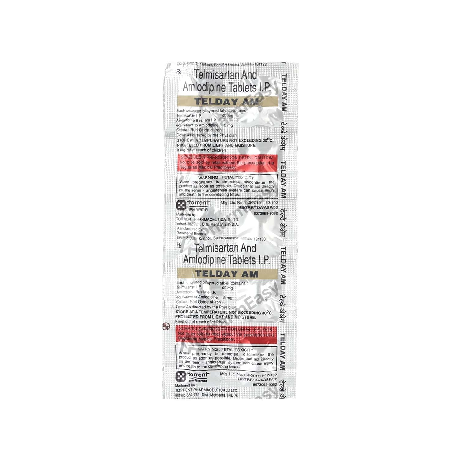 Telday Am 40mg Strip Of 10 Tablets