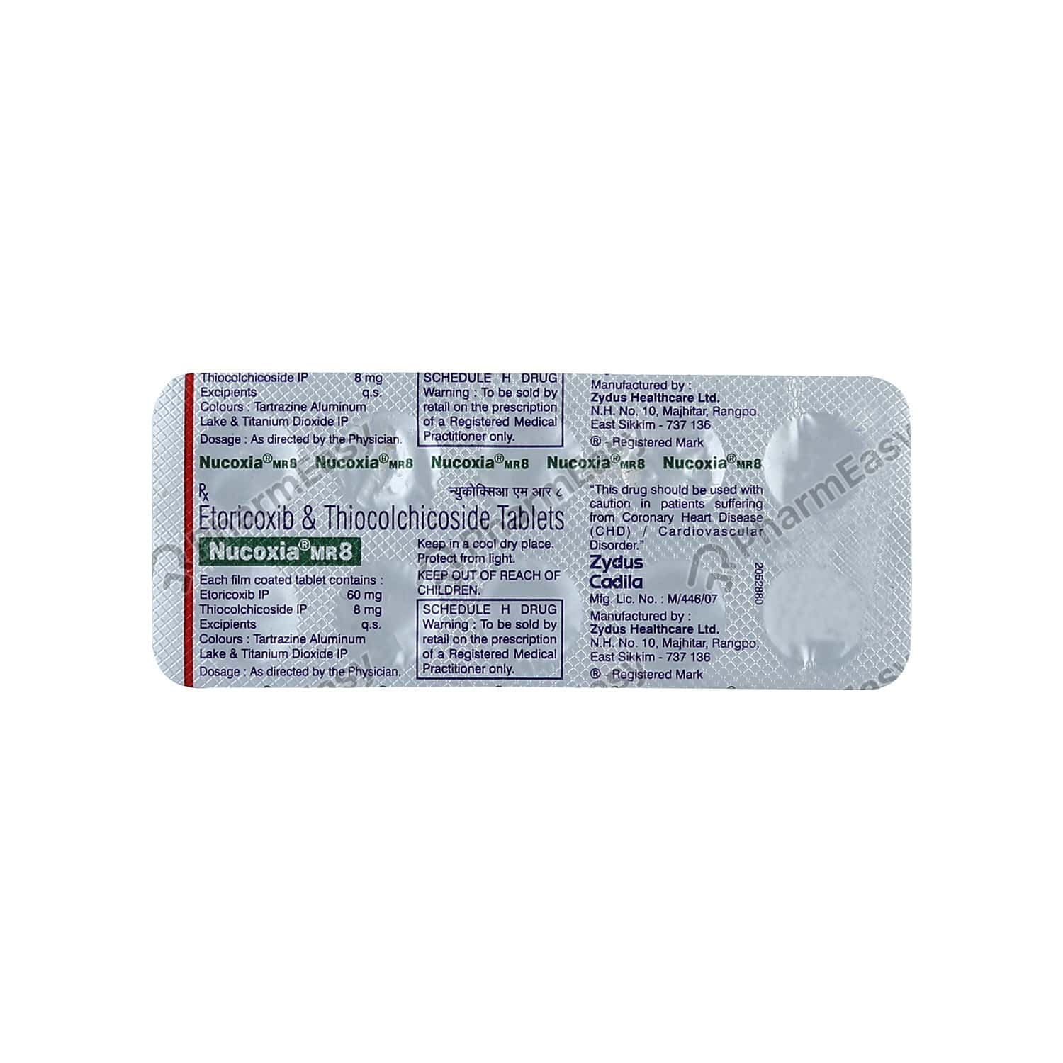 Nucoxia Mr 8mg Tablet