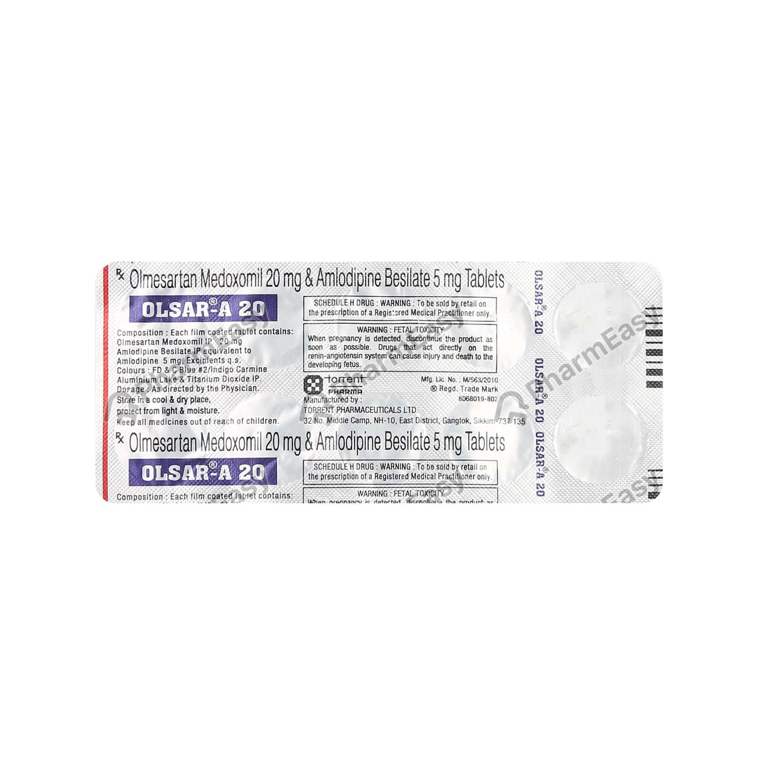 Olsar A 20mg Tablet
