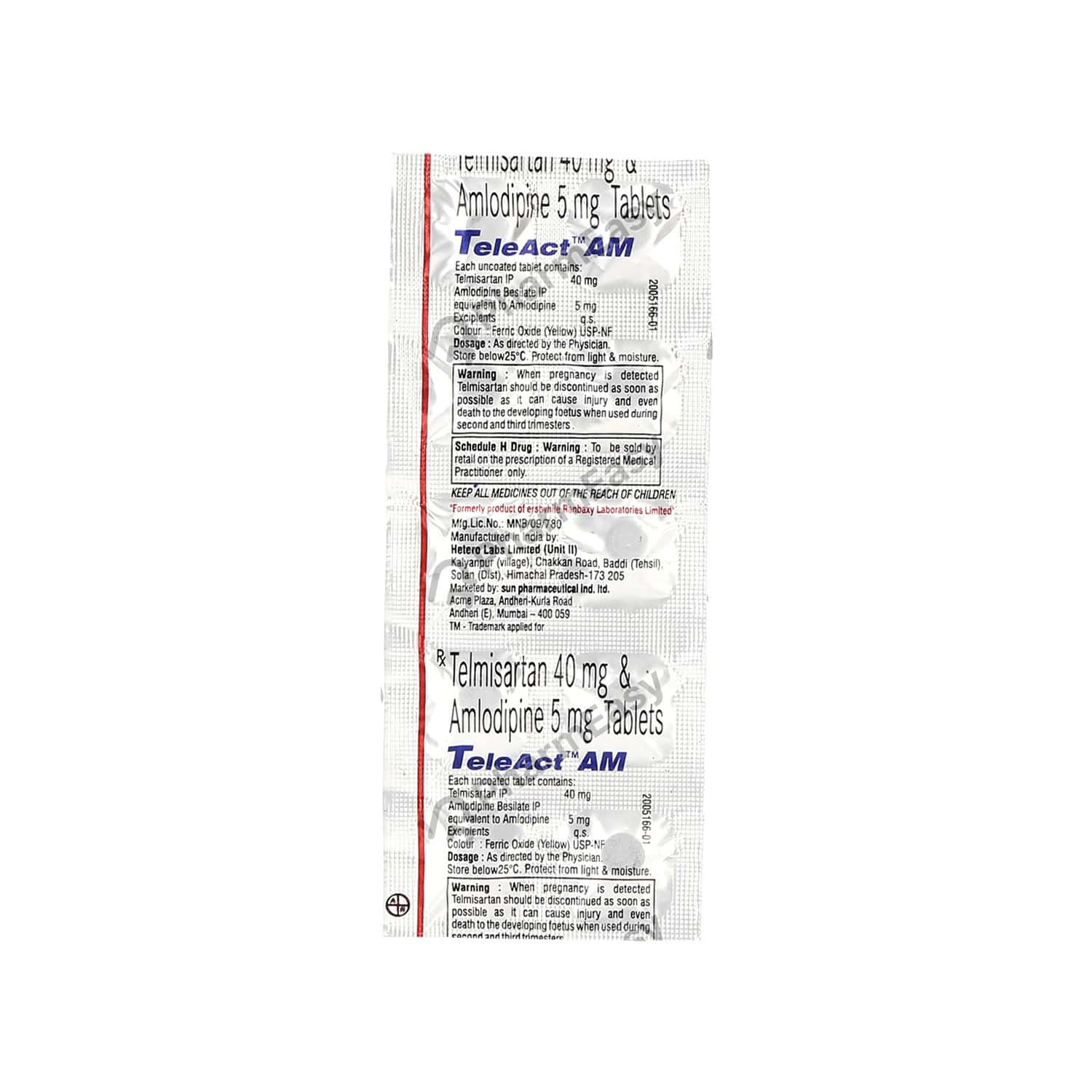 Teleact Am 40mg Strip Of 10 Tablets