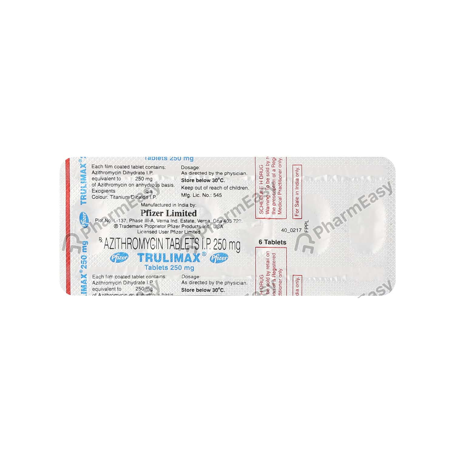 Trulimax 250mg Tablet