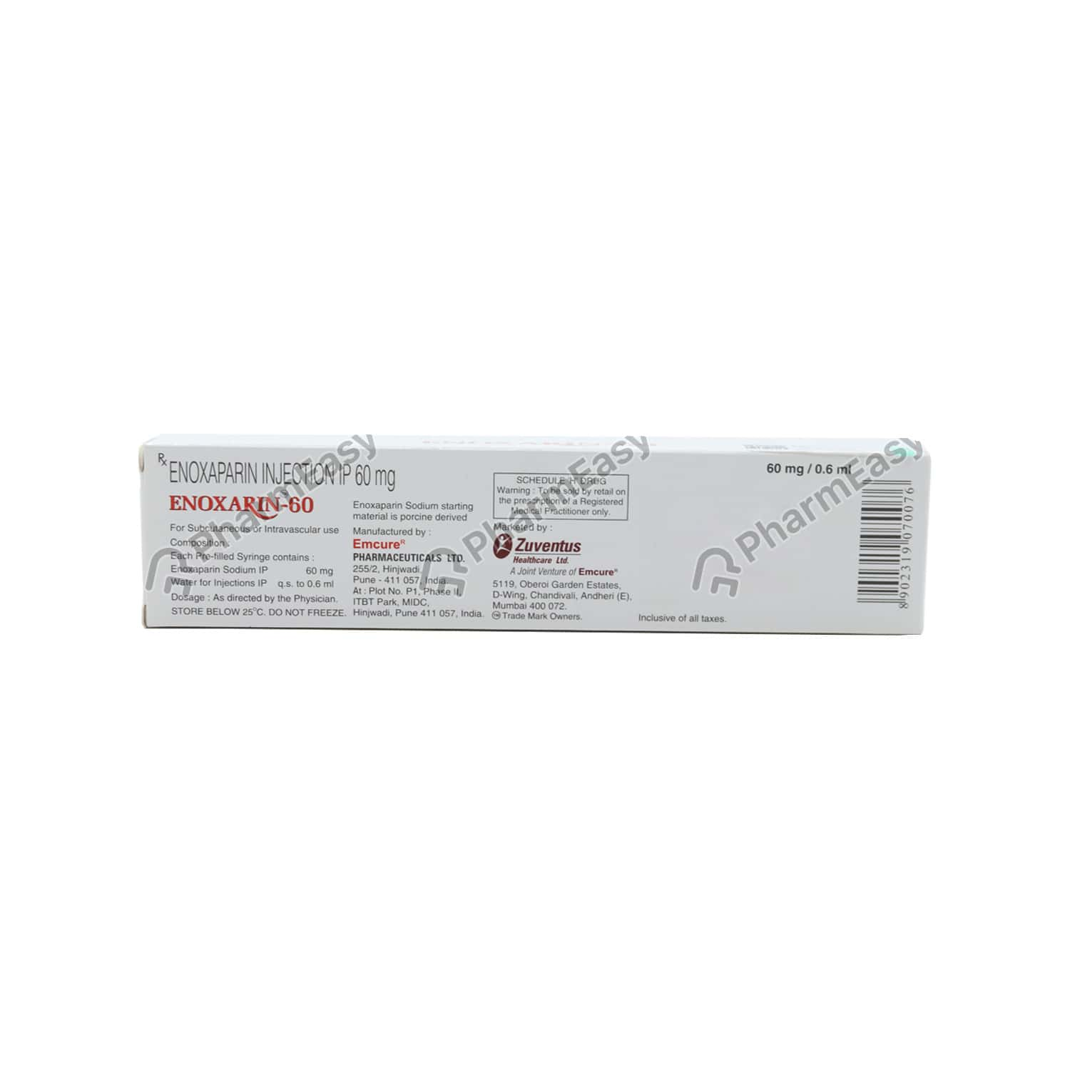 Enoxarin 60mg Injection 0.6ml
