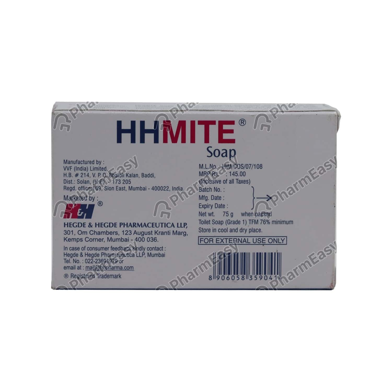 Hhmite Wrap Of 75gm Soap