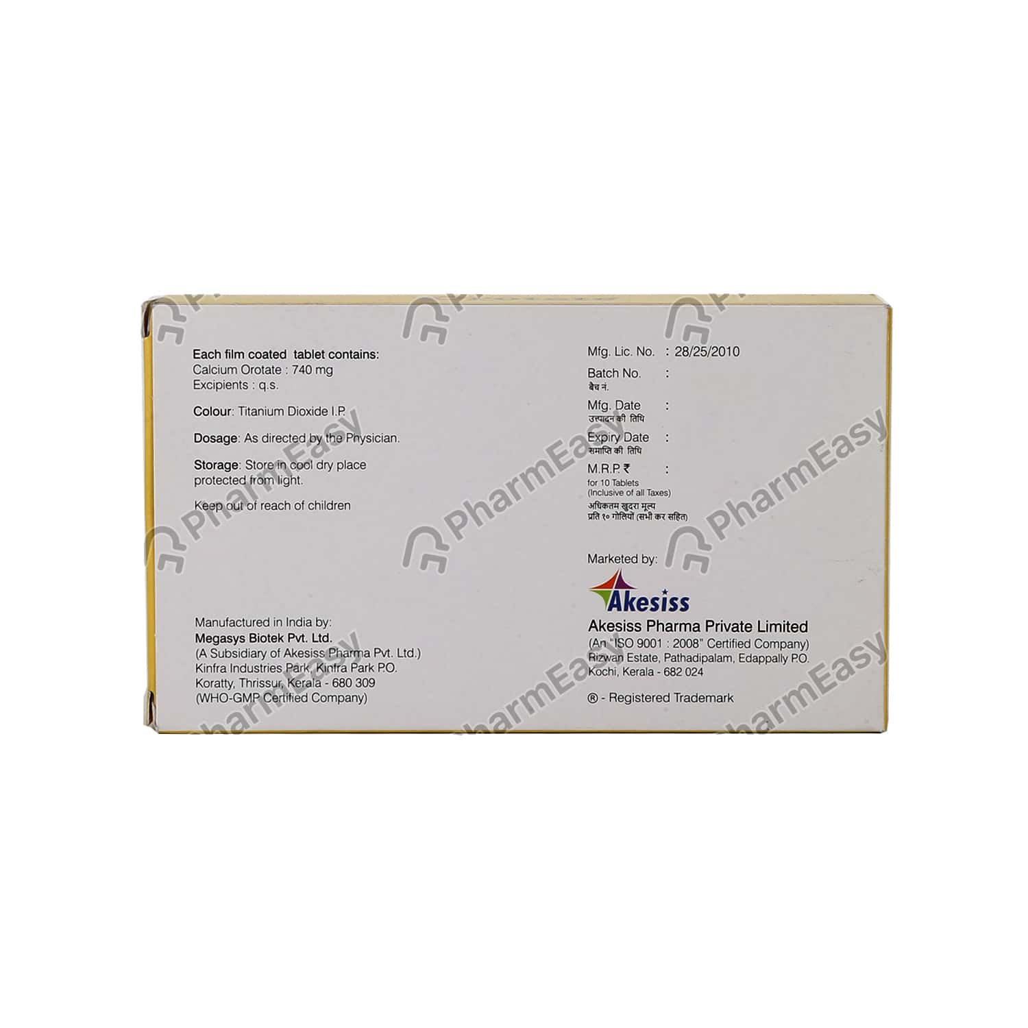 Orotate Tablet