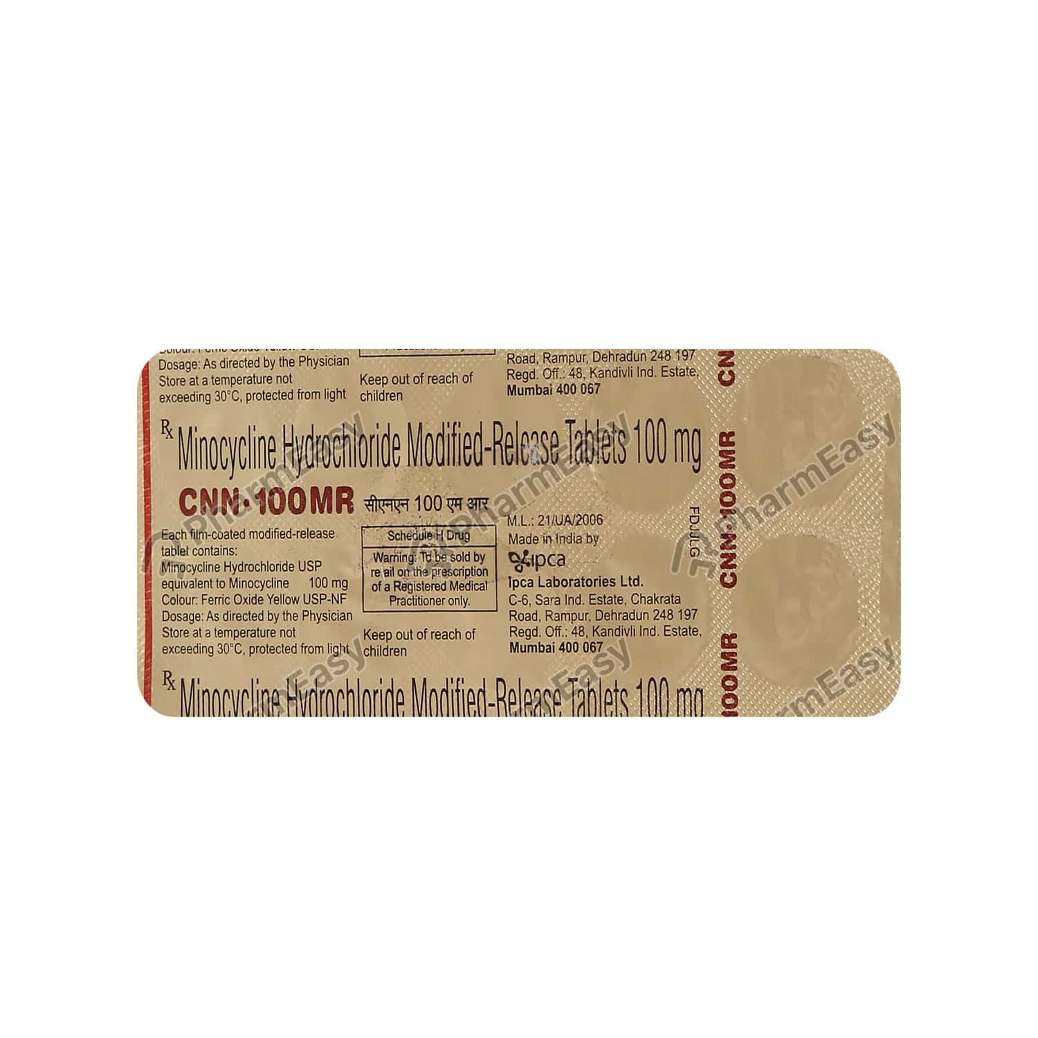 Cnn Mr 100mg Tab