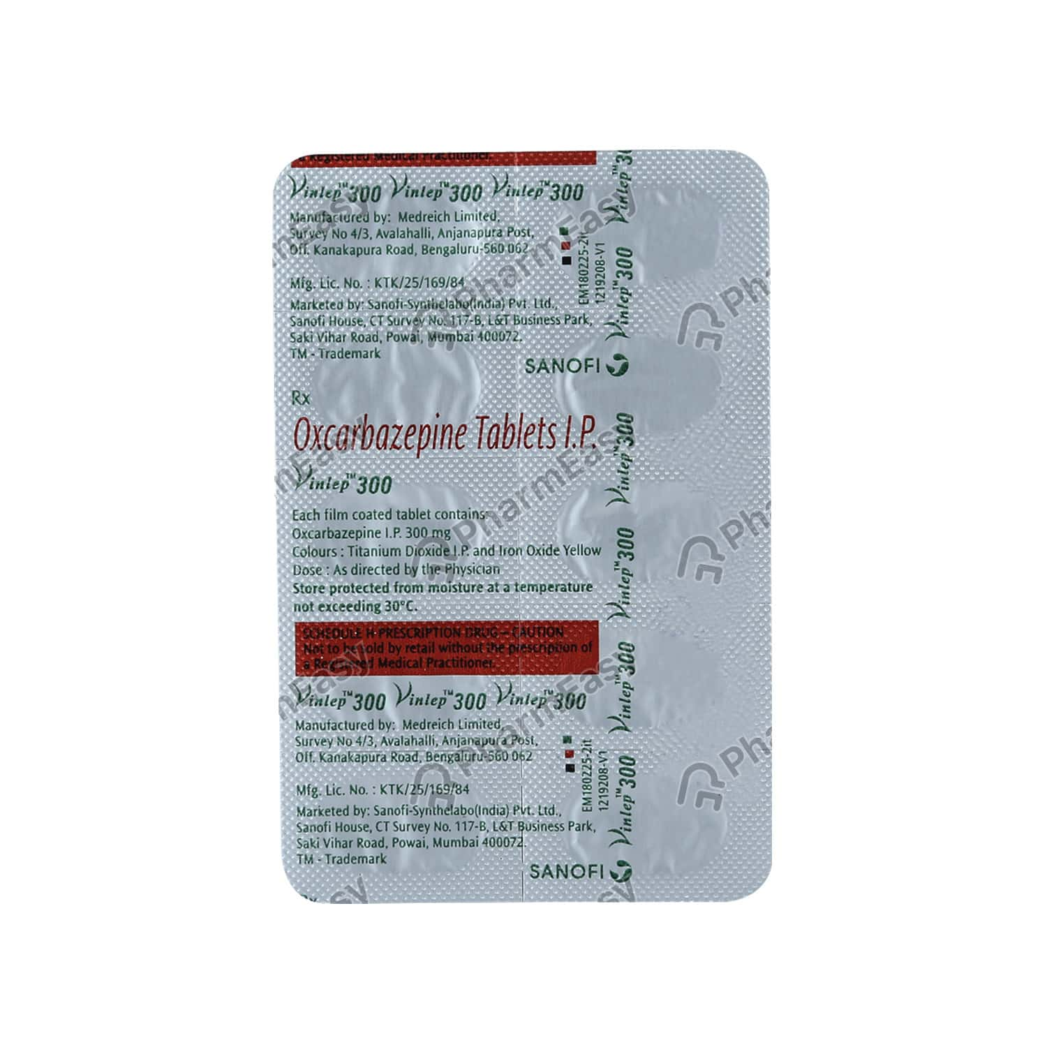 Vinlep 300mg Tablet
