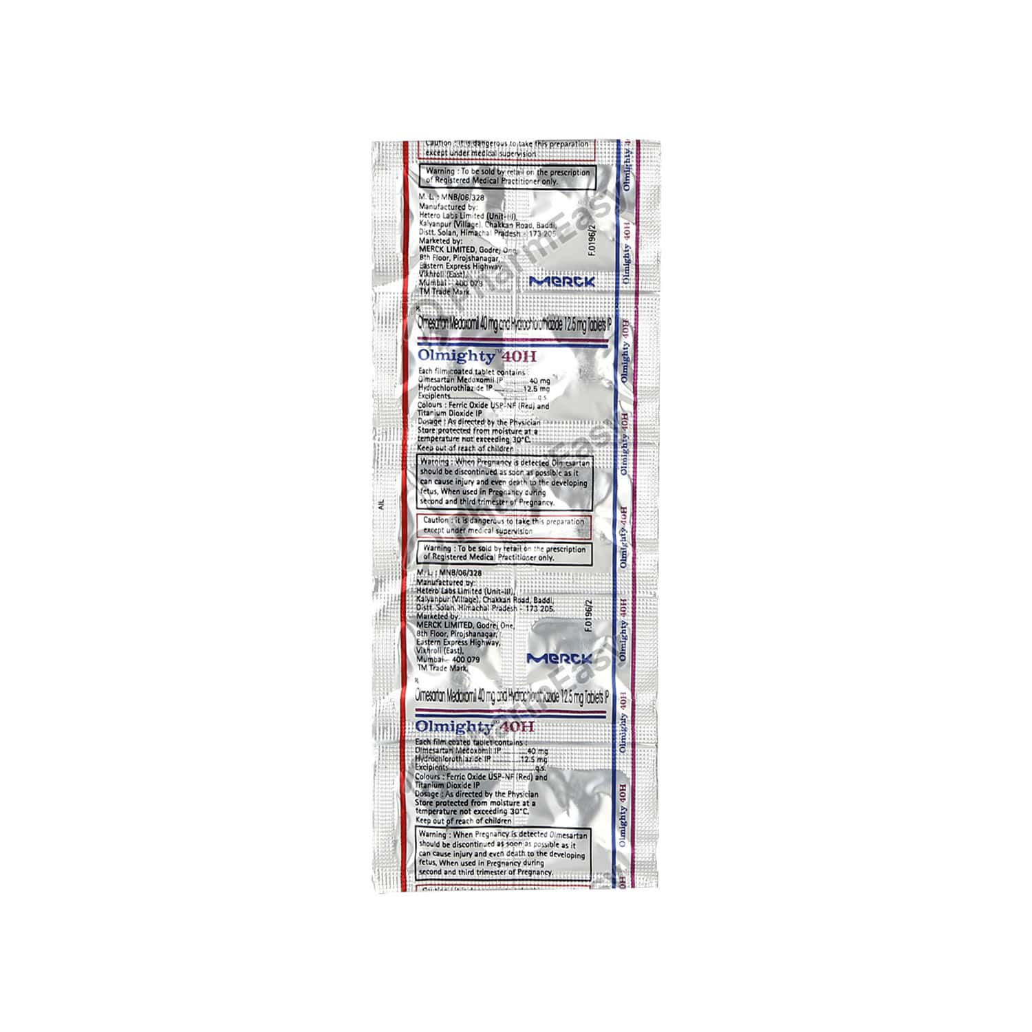 Olmighty H 40mg Strip Of 10 Tablets