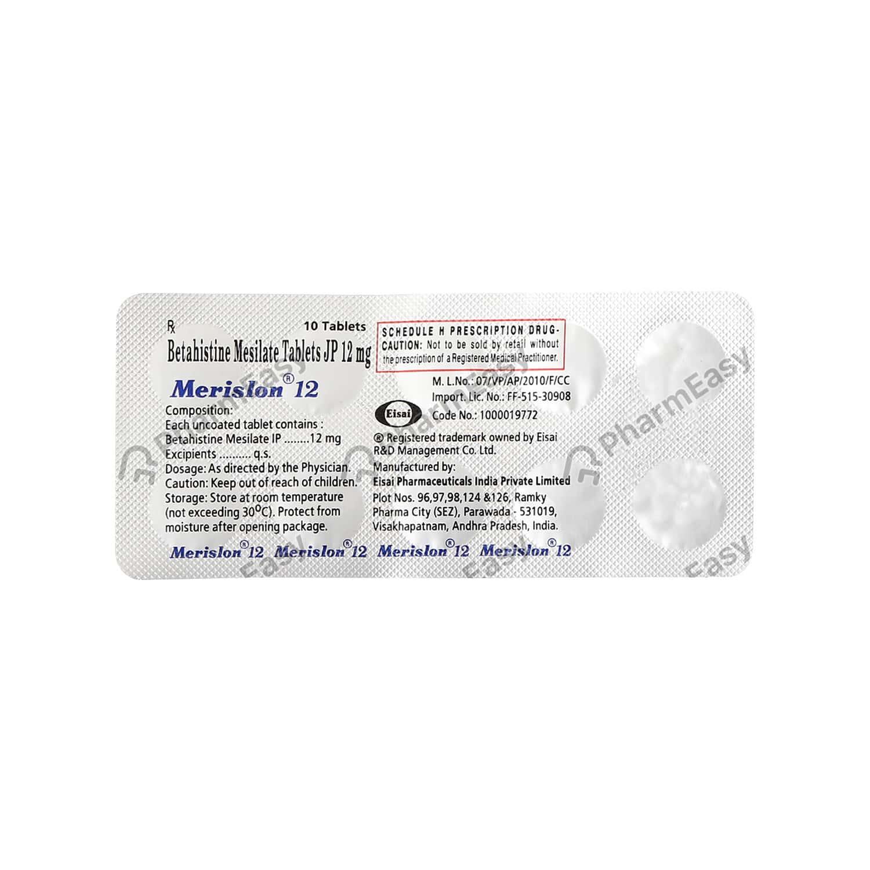 Merislon 12mg Tablet