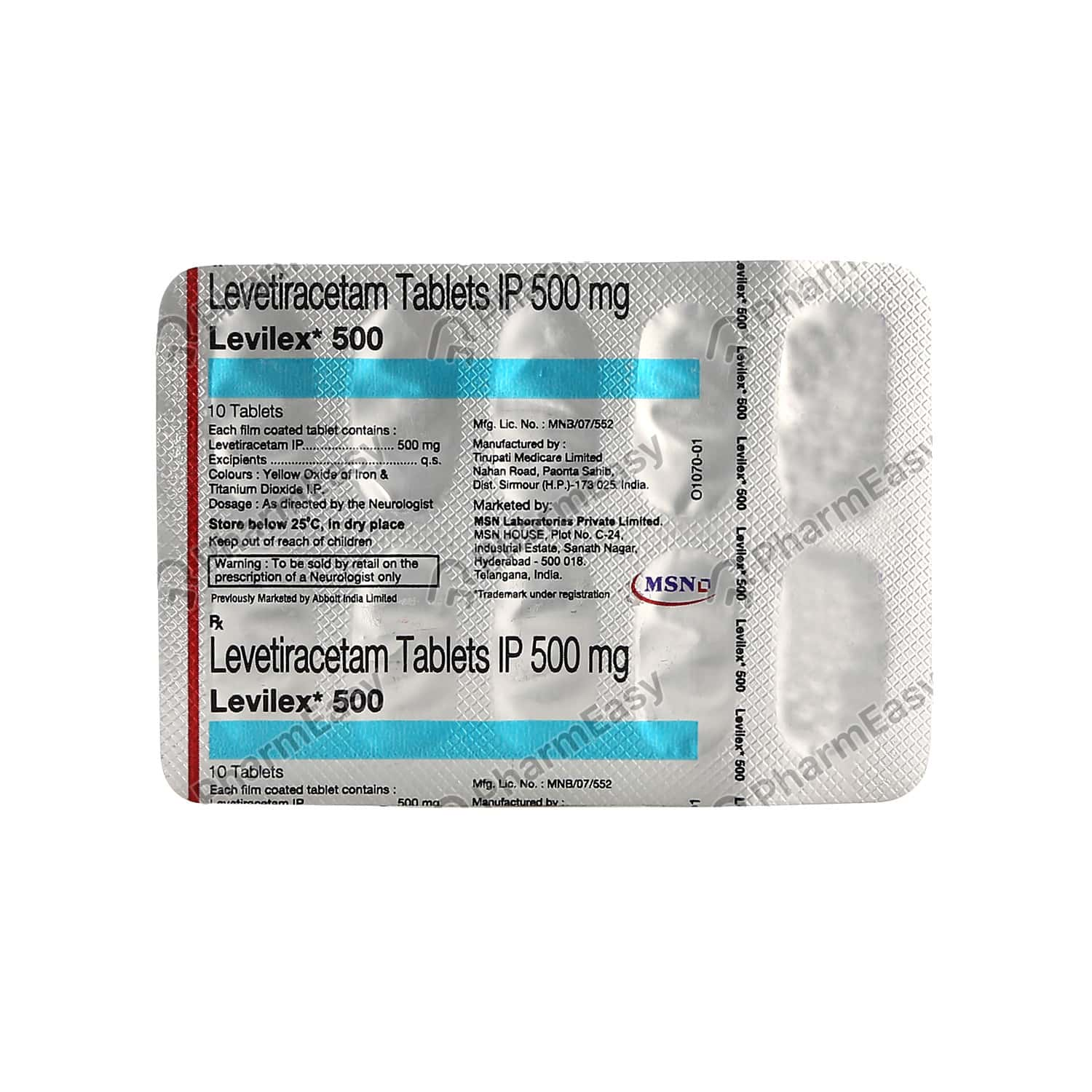 Levilex 500mg Tablet