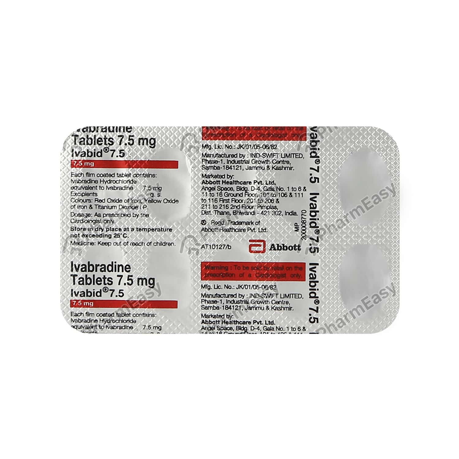 Ivabid 7.5mg Tablet
