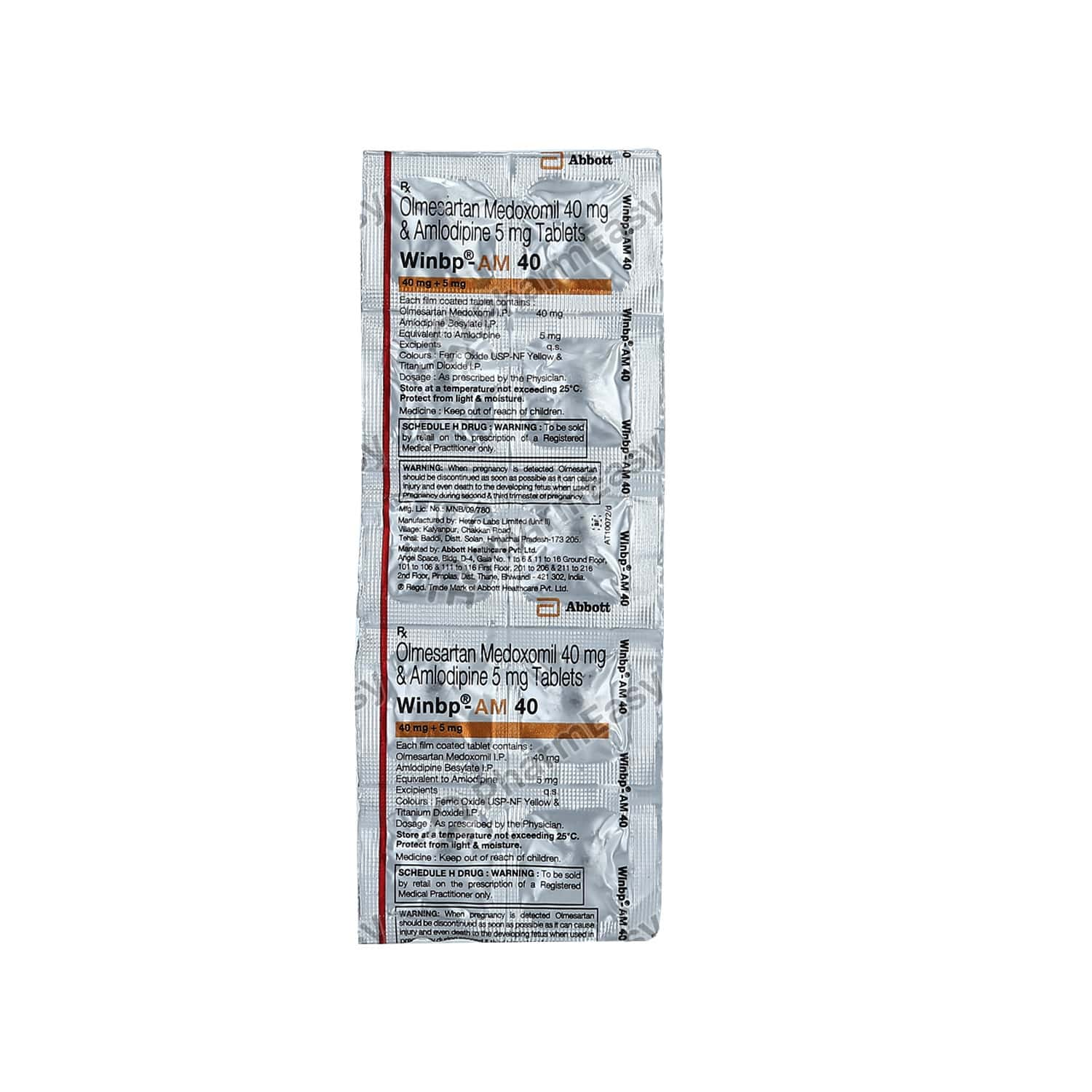 Winbp Am 40mg Strip Of 10 Tablets