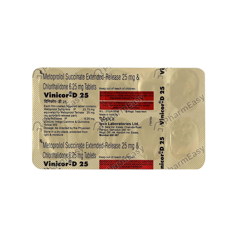 Vinicor D 25mg Tab
