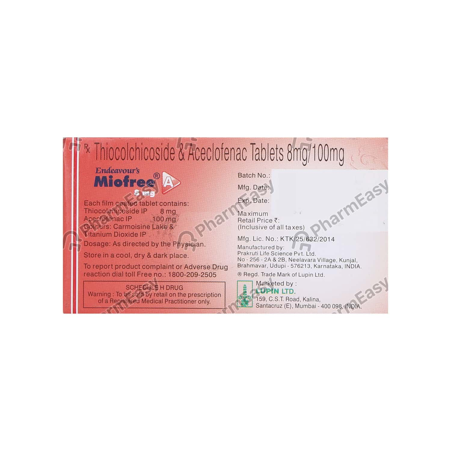 Miofree A 8mg Tablet