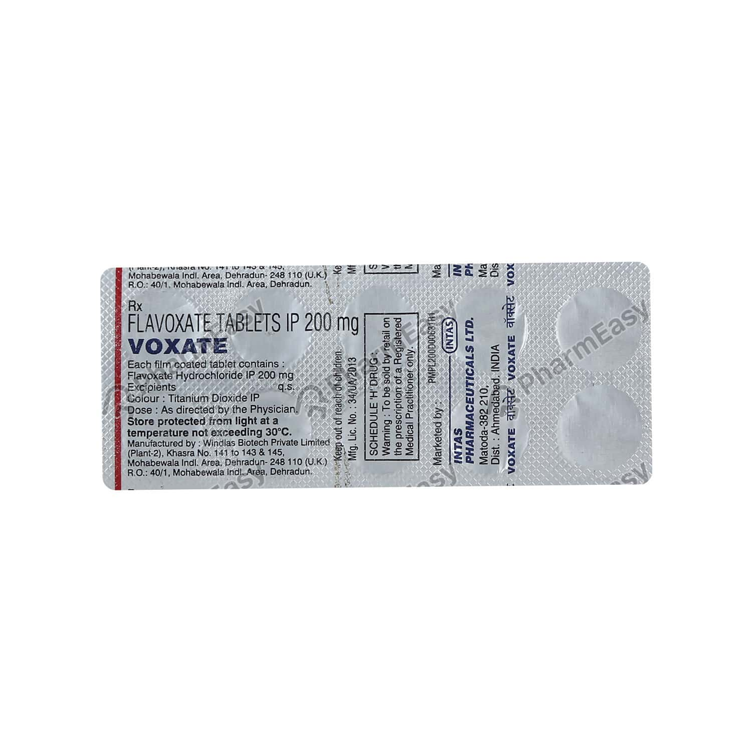 Voxate 200mg Strip Of 10 Tablets