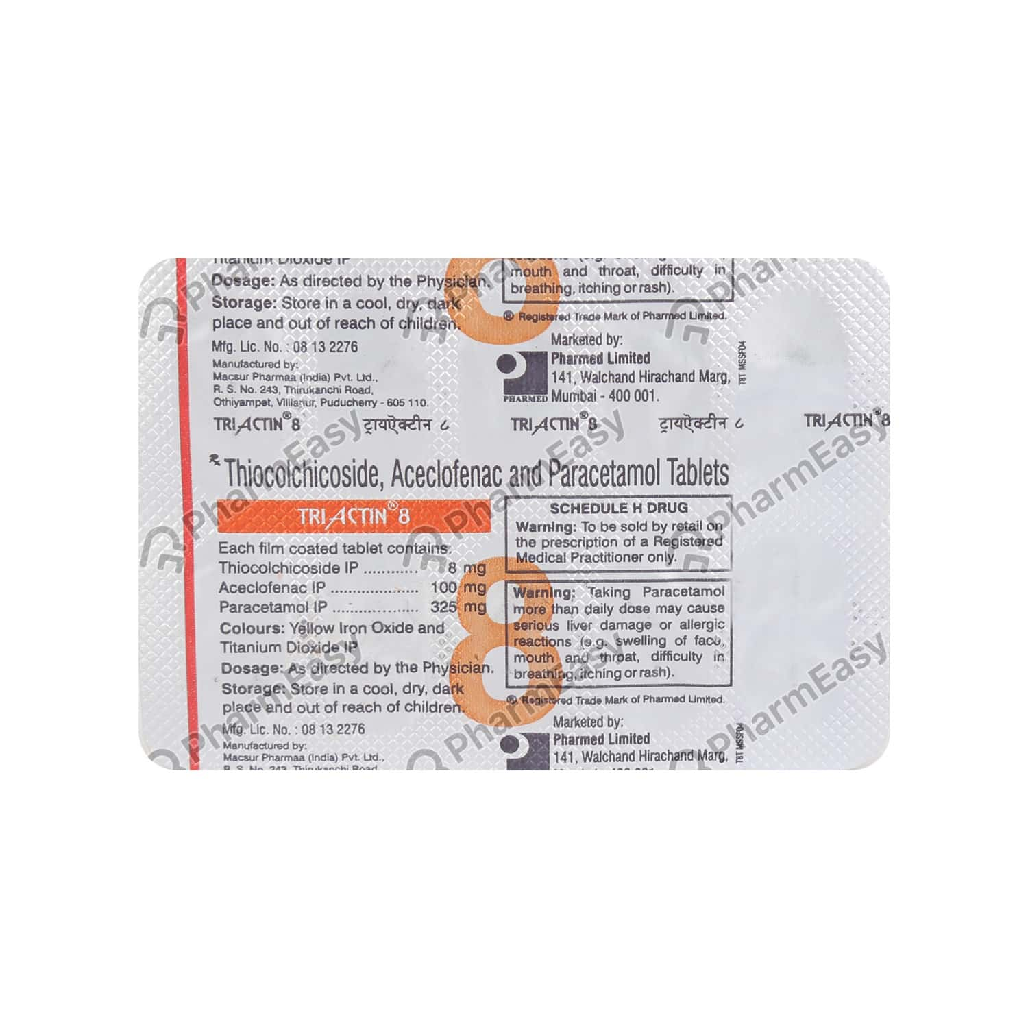 Triactin 8mg Tablet