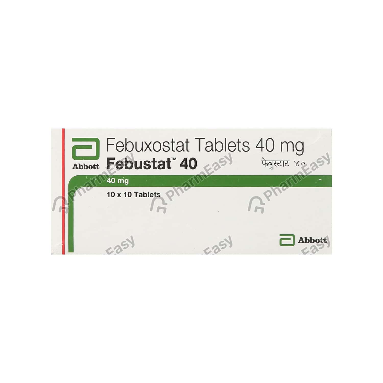 Febustat 40mg Strip Of 10 Tablets