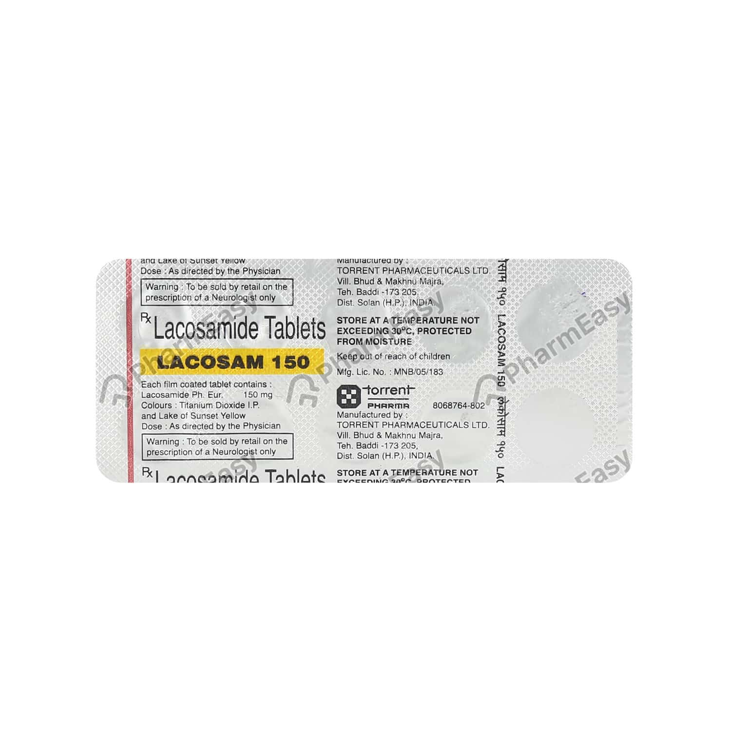 Lacosam 150mg Tablet