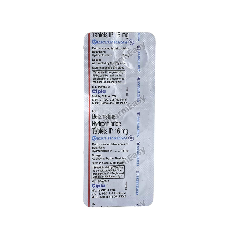 Vertipress 16mg Tablet