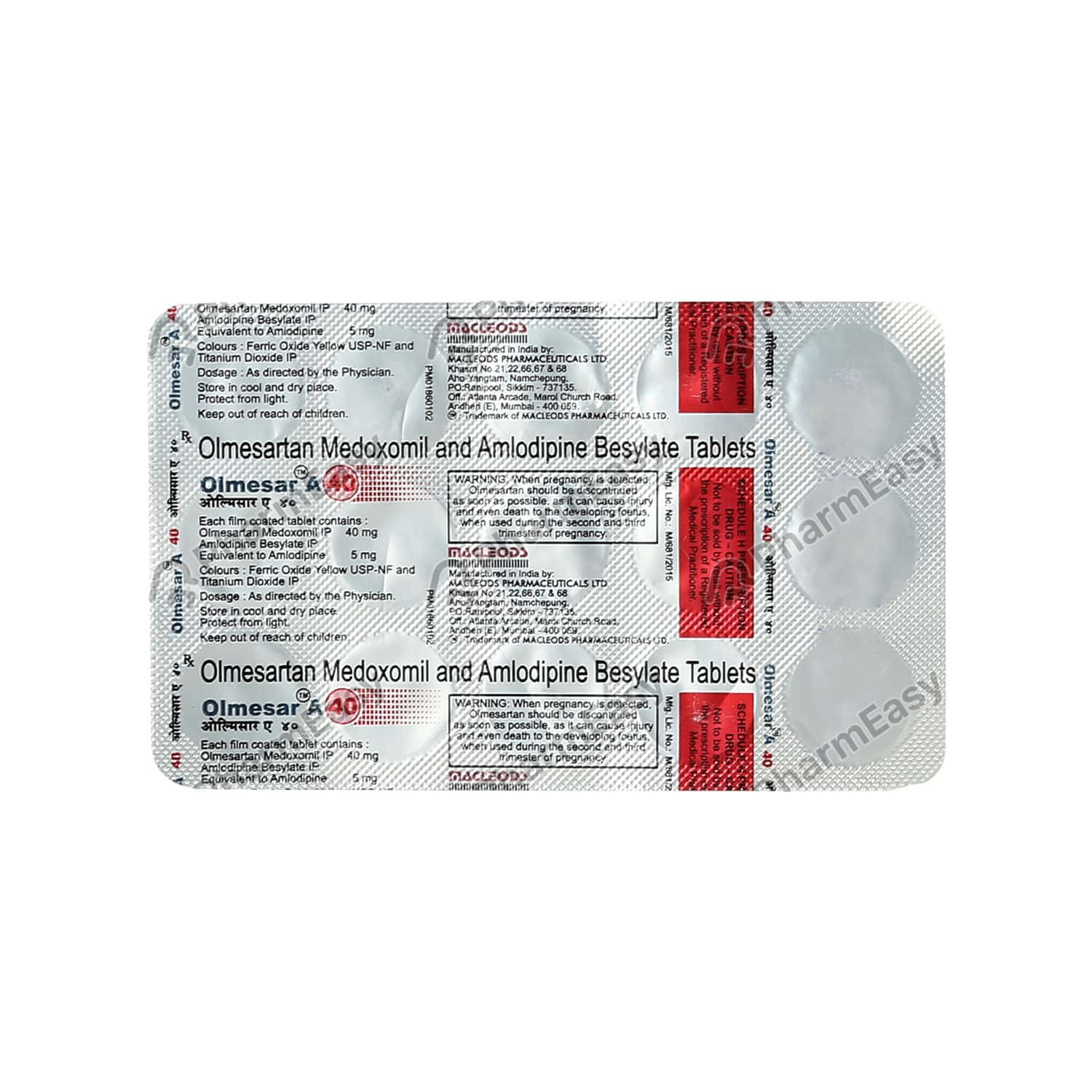 Olmesar A 40mg Tablet