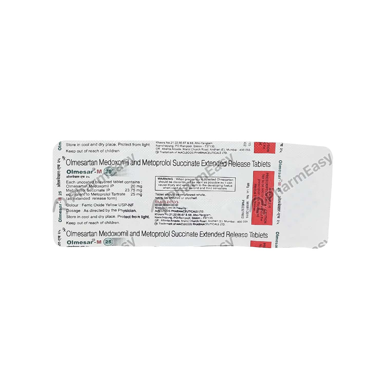 Olmesar M 25mg Tablet