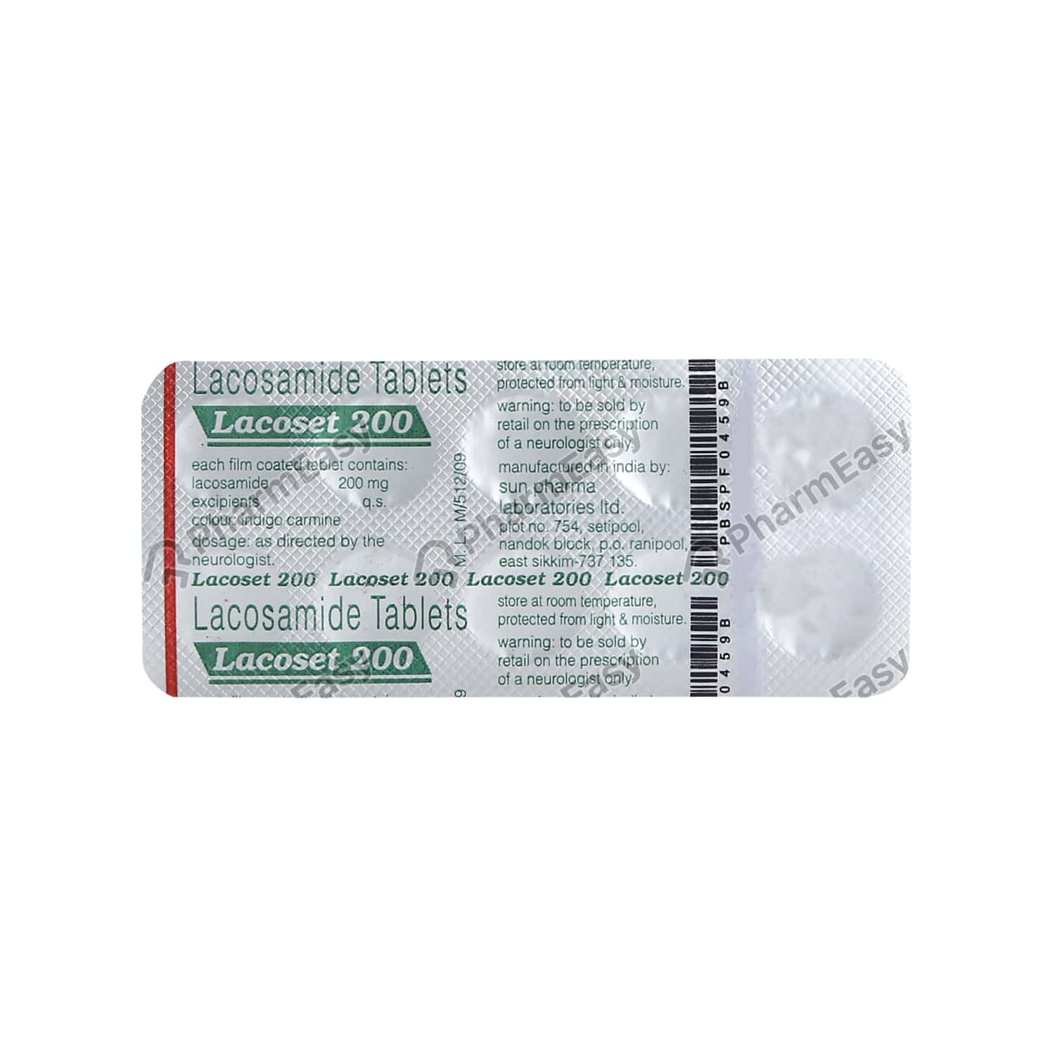Lacoset 200mg Tablet