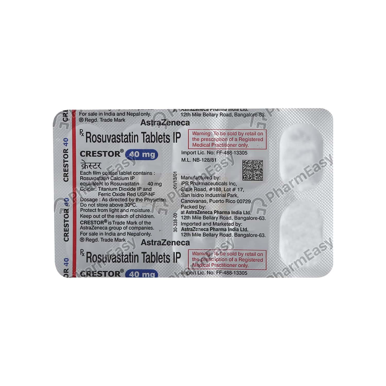Crestor 40mg Strip Of 10 Tablets
