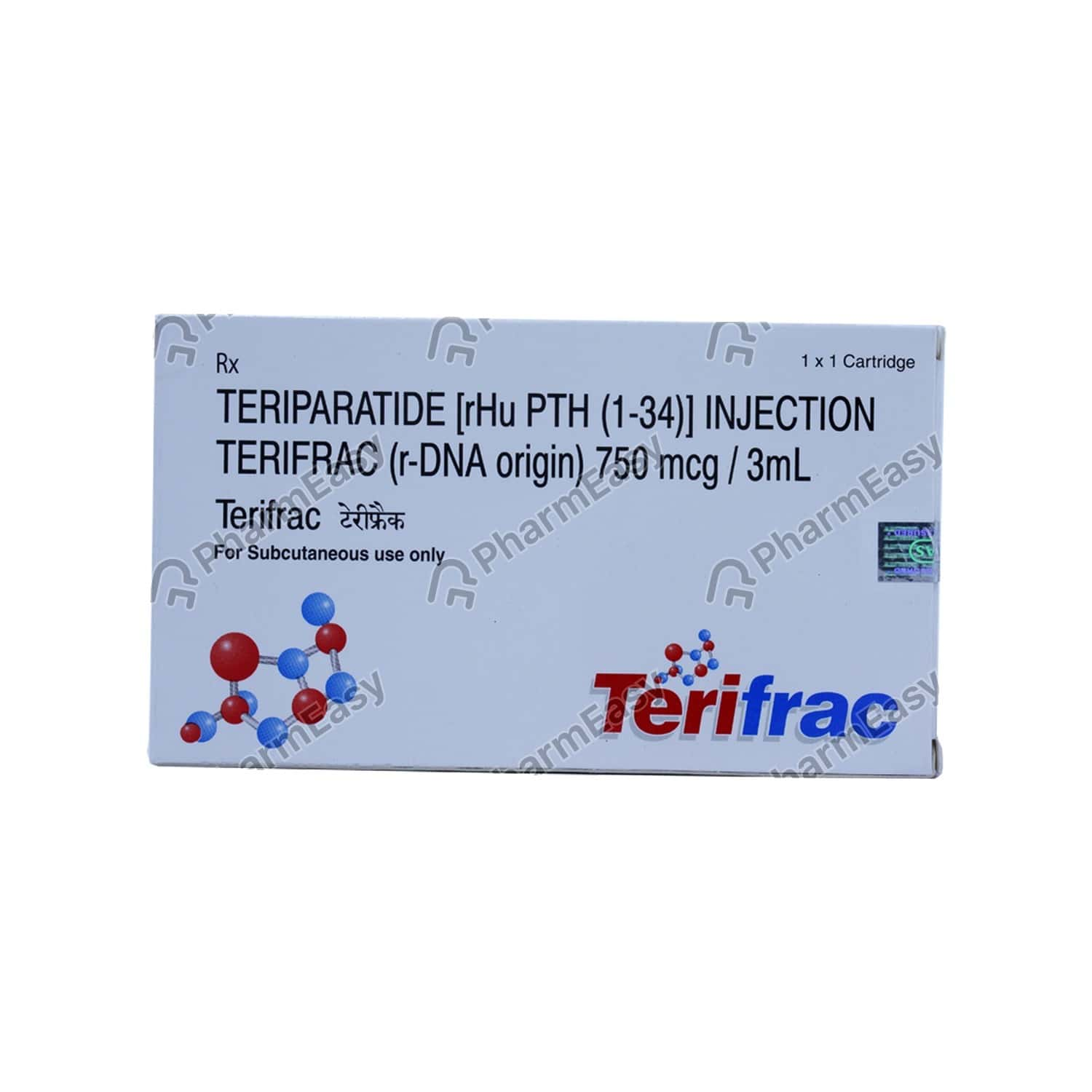 Terifrac 750mcg Cartridge Of 3ml Solution For Injection