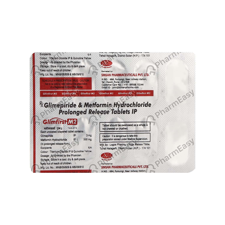 Glimfirst M 2mg Strip Of 10 Tablets