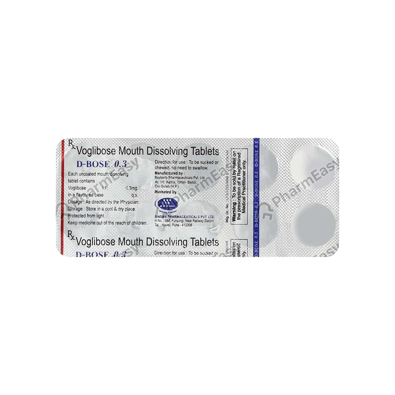 D Bose 0.3mg Strip Of 10 Tablets