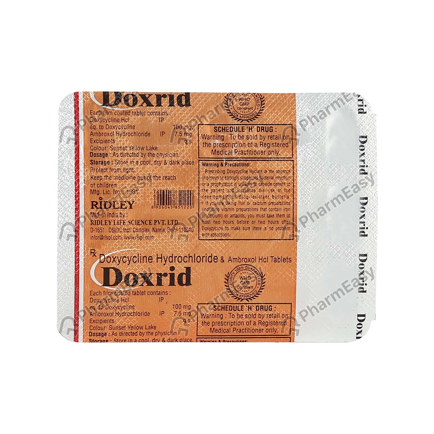 Doxrid 100 Strip Of 8 Tablets
