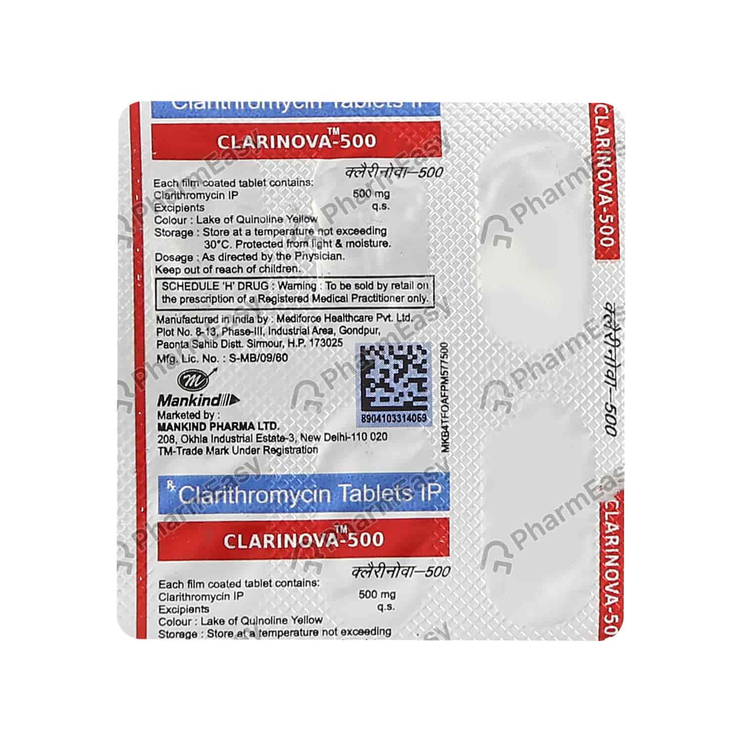 Clarinova 500mg Tablet