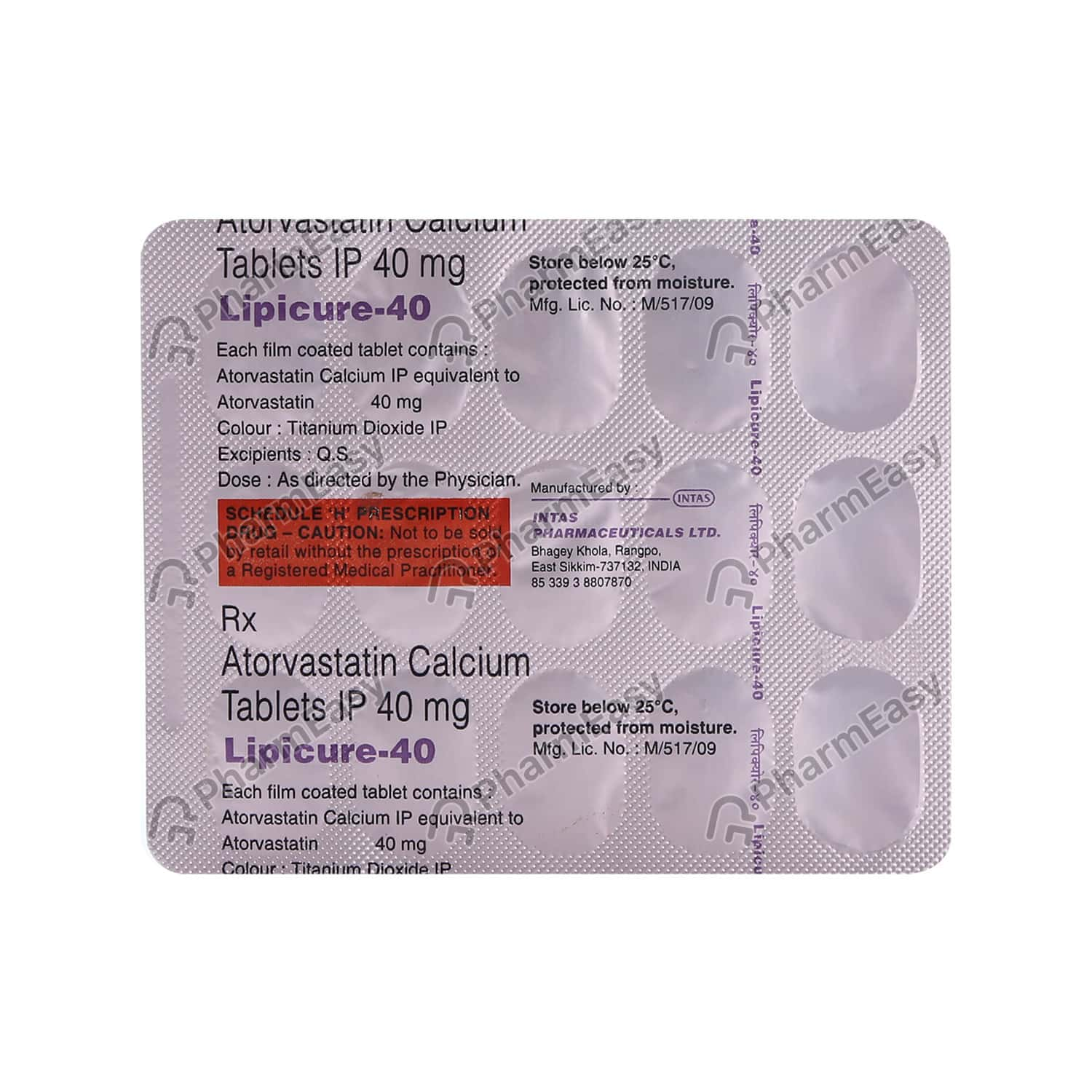 Lipicure 40mg Strip Of 15 Tablets