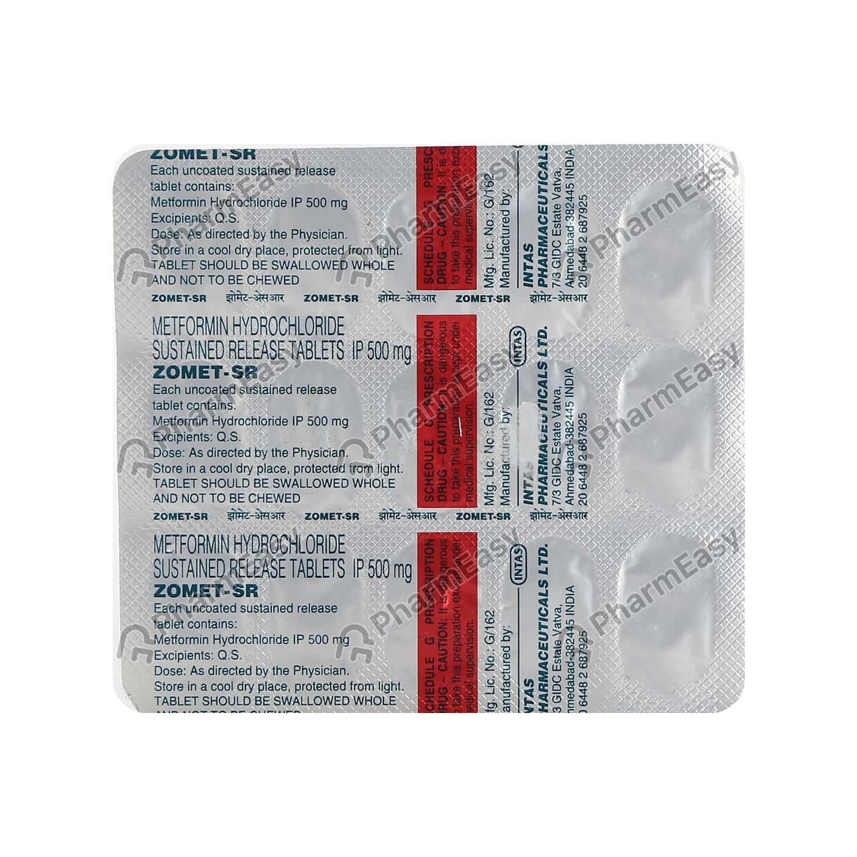 Zomet Sr 500mg Strip Of 15 Tablets